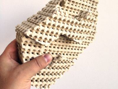 Intricate 3D printed ceramic bricks would cool homes with evaporation 1