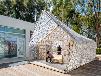 Students' lightweight tiny home is a biohabitat for affordable housing crisis 1